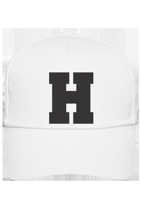 Bold H Cotton White Cap