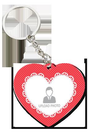 Beautiful Heart Trendy Valentine Heart Key Chain