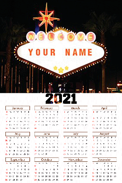 Customised Name Board Poster Name In Image Calendar (12x18 Inches)