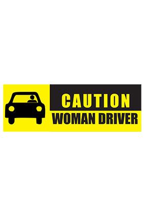 Customized Woman Driver Bumper Sticker