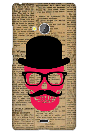 Transparent Silicon - Hatted Man Microsoft Lumia 540 Mobile Cover