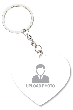 Upload Your Photo Heart Shape Key Chain