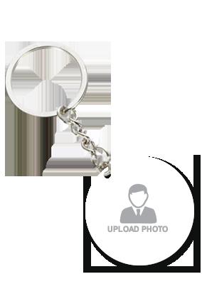 Upload Photo Round Key Chain