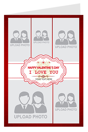 Multiple Photo Valentine's Day Greeting Card