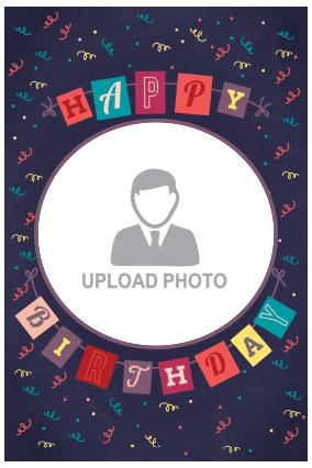 Customized Birthday Wishes Potrait Canvas Print