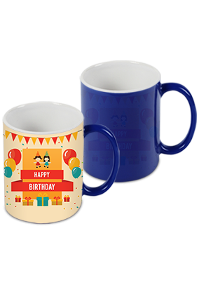 Awesome Birthday Wish Blue Magic Mug
