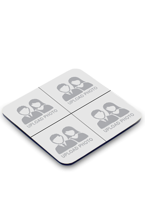 4 Photos Square Printed Coaster