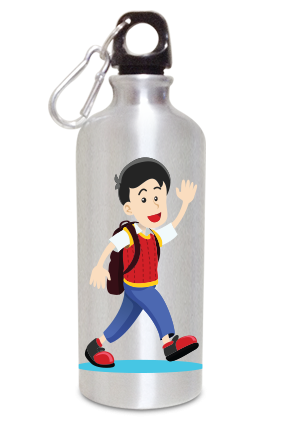 Cool Boy 600ml Silver Sipper