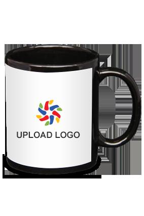 Upload Logo Black Patch Mug