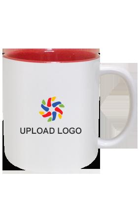 Upload Logo Inside Red Mug