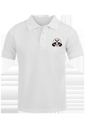 Guitar White Cotton Polo T-Shirt