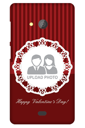 Amazing Microsoft Lumia 540 Red Hearts Valentine's Day Mobile Cover