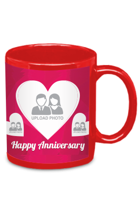 Amazing Happy Anniversary Red Patch Mug
