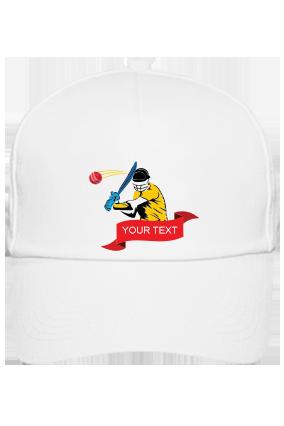 Cricket White Cap with Logo