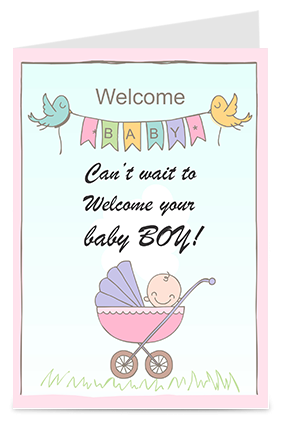 Amazing Welcome Baby Greeting Card