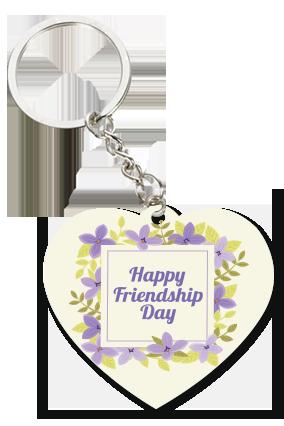 Friendship Day White Heart Key Chain