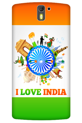 3D- I Love India Oneplus One  Mobile Cover
