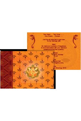 Customize Saffron Wedding Invite
