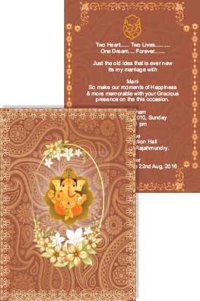 Amazing Ceremonious Wedding Invite