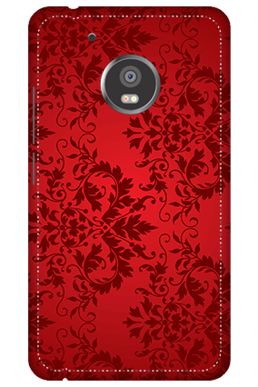3D - Moto G5 Plus Red Color Mobile Cover