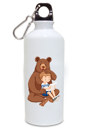 Big Bear 600ml White Sipper