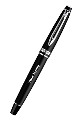 Waterman Expert Matte Black Ct Fountain Pen(Medium Nib)
