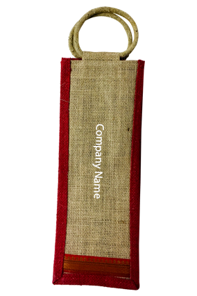 Customized Company Name Jute Bottle Bag 01