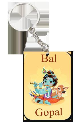 Bal Gopal Big Rectangle Key Chain