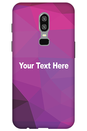 3D-OnePlus 6 Purple Mobile Cover