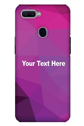 3D-Oppo F9 Purple Mobile Cover