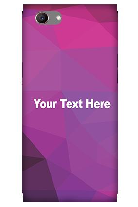3D -Oppo Realme 1 Purple Mobile Cover