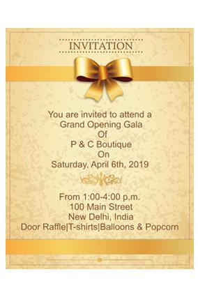 Classy Glod Potrait Event Invitation Card