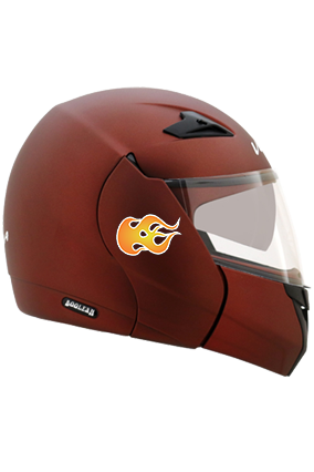 Speed Flame Vega Boolean Dull Burgundy Helmet
