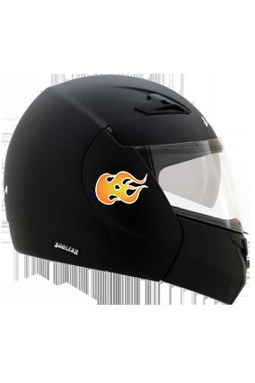 Speed Flame Vega Boolean Dull Black Helmet