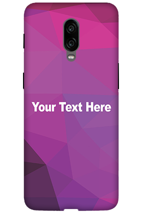 3D -  Oneplus 6T Purple Mobile Cover