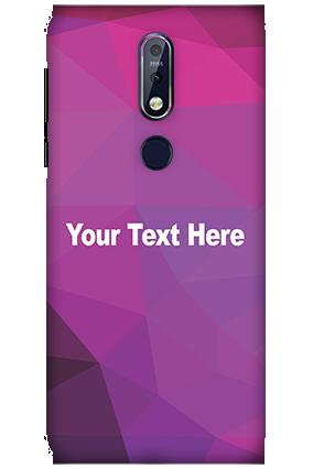 3D Nokia 7.1 Purple Mobile Covers