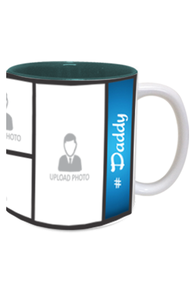 Blue Personalized Father's Day Exclusive Inside Green Mug