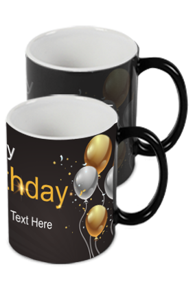 Black and Gold Trendy Birthday Black Magic Mug
