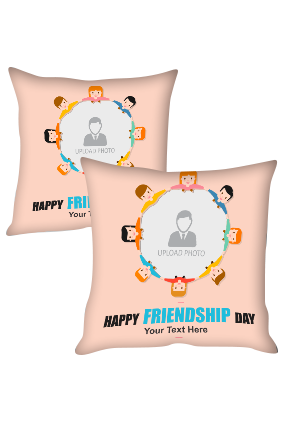 Friends Circle for Personalized Friendship Cushion Cover