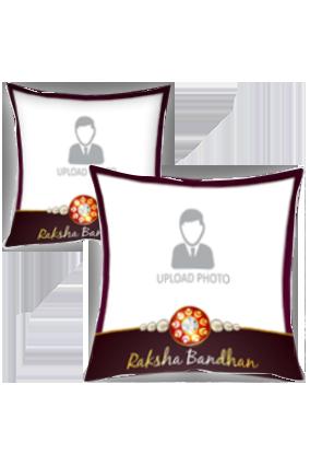 Simple and Personalized Raksha Bandhan Cushion Cover