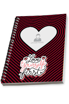 Love yourself first Custom Photo Spiral Notebook