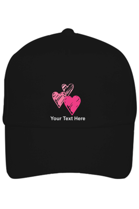 Be My Valentine Customised Cotton Black Cap