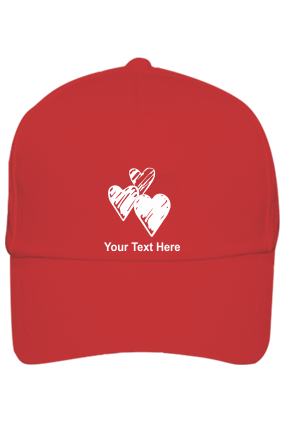 Be My Valentine Customised Cotton Red Cap