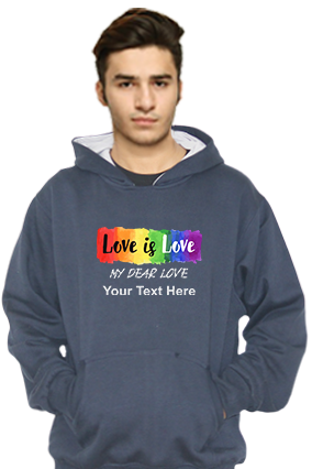 Love is Love Customized Hoodie (Navy Blue)
