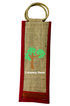Custom Tree Jute Bottle Bag 01
