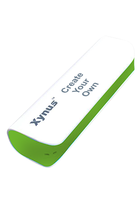 Create Your Own 2600mAh Xynus Power Bank Green