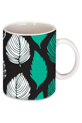 Customized Abstract Promotional Leaves Personalized  Mug