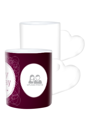 Birthday Wishes Heart Handle White Coffee Mug