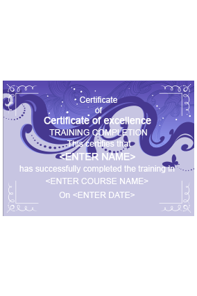 Glam  Beauty Salon Certificate