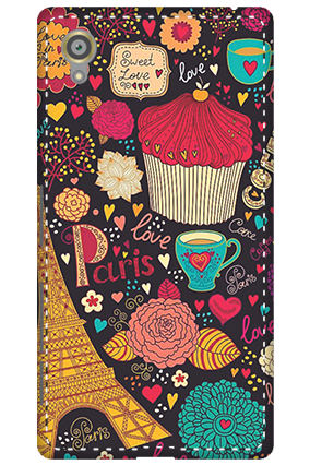 3D - Sony Xperia X Paris Valentine's Day Mobile Cover
